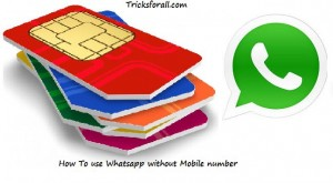 How To Use Whatsapp Without Using Your Mobile Number